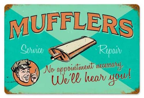 Vintage-Retro Muffler Service Metal-Tin Sign