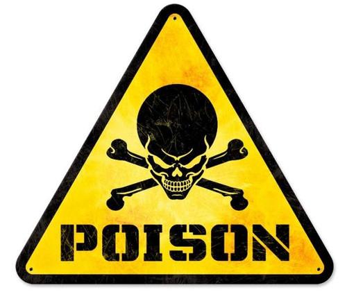 Vintage-Retro Poison Triangle Metal-Tin Sign