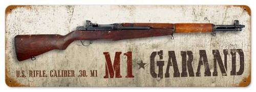 Vintage-Retro M1 Garand Metal-Tin Sign LARGE
