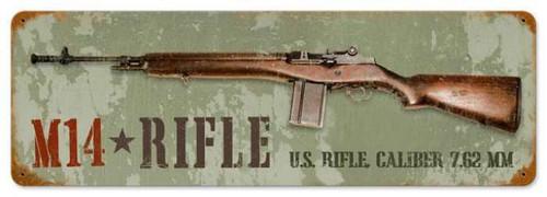 Vintage-Retro M14 Rifle Metal-Tin Sign LARGE