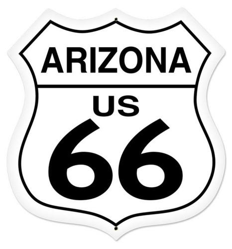 Vintage-Retro Arizona Route 66 Shield Metal-Tin Sign