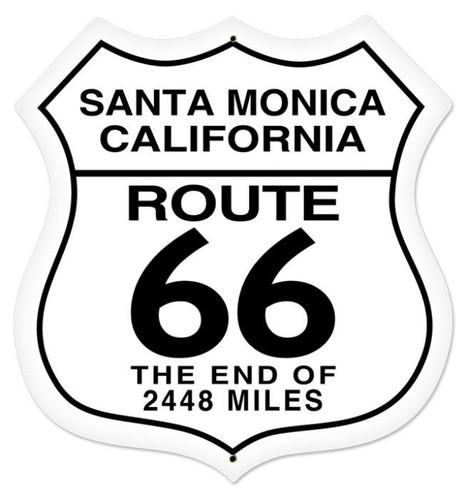 Vintage-Retro Santa Monica Shield Metal-Tin Sign LARGE