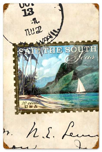Vintage-Retro Sail The South Metal-Tin Sign