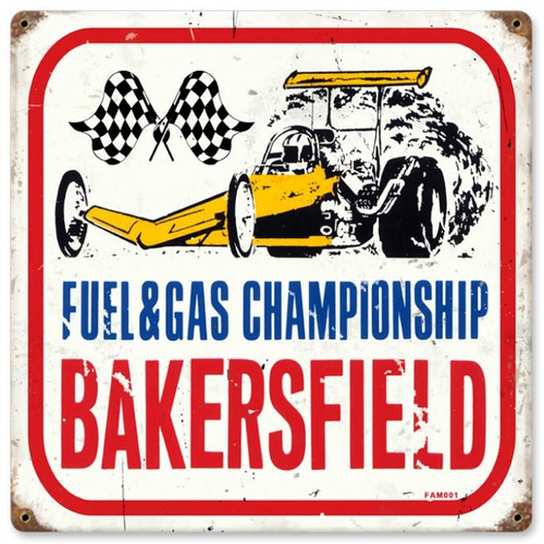Vintage-Retro Bakersfield Metal-Tin Sign