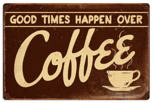 Vintage-Retro Coffee Metal-Tin Sign LARGE RPC145