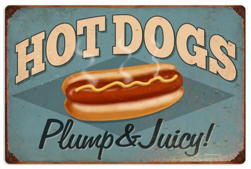 Vintage-Retro Hot Dogs Metal-Tin Sign 1