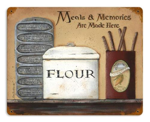 Vintage-Retro Meals Memories Metal-Tin Sign