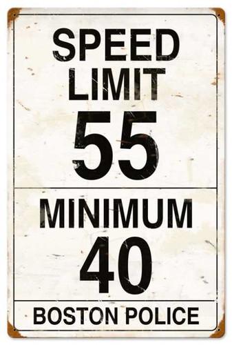 Vintage-Retro Speed Limit 55 Metal-Tin Sign