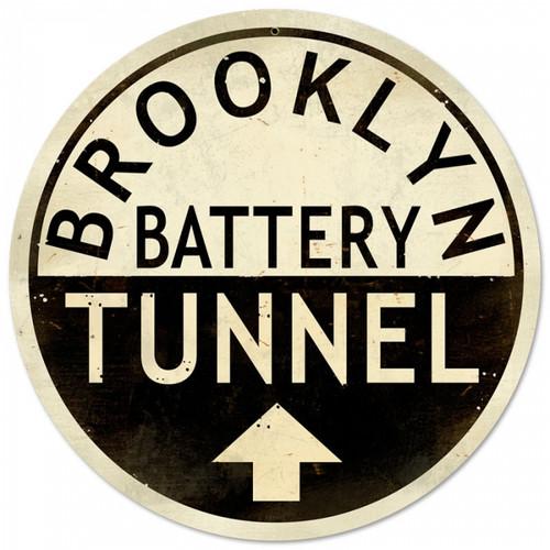 Vintage-Retro Brooklyn Tunnel Metal/ Tin Sign