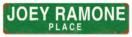 Vintage-Retro Joey Ramone Place Metal-Tin Sign
