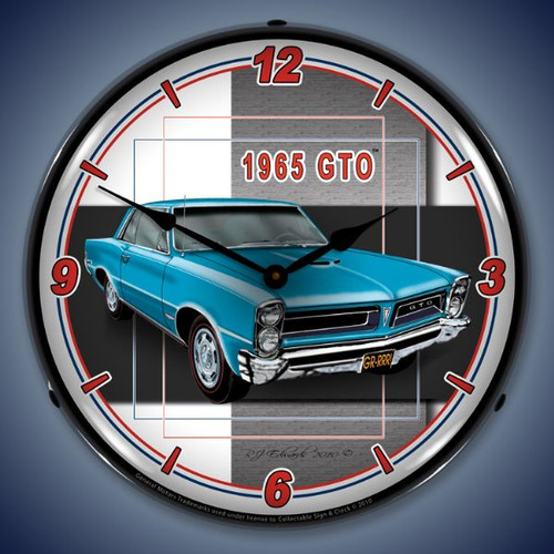 Vintage-Retro  1965  GTO Lighted Wall Clock