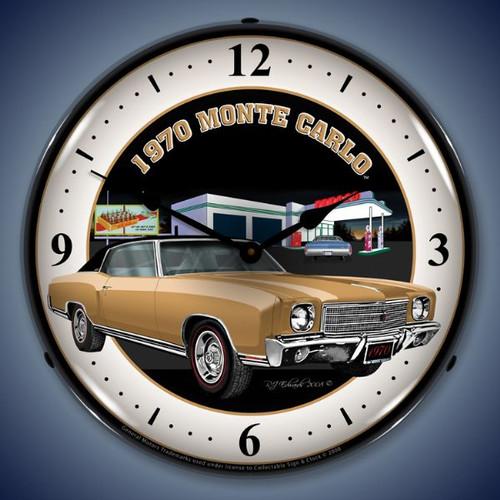 Vintage-Retro  1970 Monte Carlo Lighted Wall Clock
