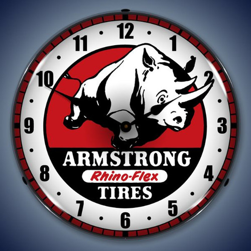 Vintage-Retro  Armstrong Tire Lighted Wall Clock