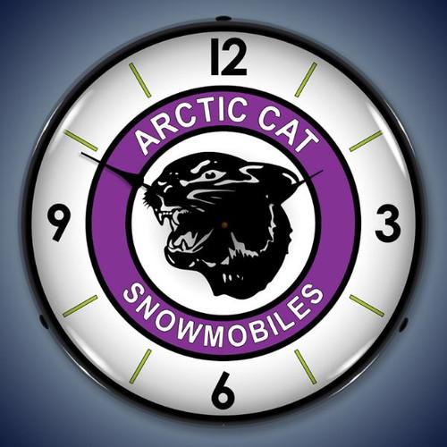 Vintage-Retro  Artic Cat Lighted Wall Clock