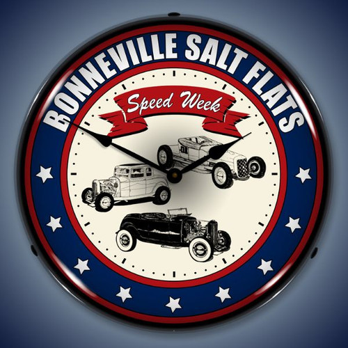 Vintage-Retro  Bonneville Speed Week Lighted Wall Clock