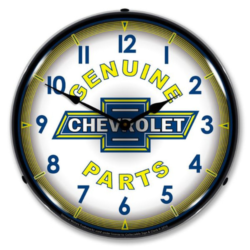 Chevy Parts Vintage Lighted Wall Clock