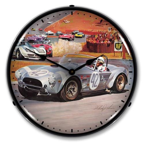 Cobra Race Lighted Wall Clock