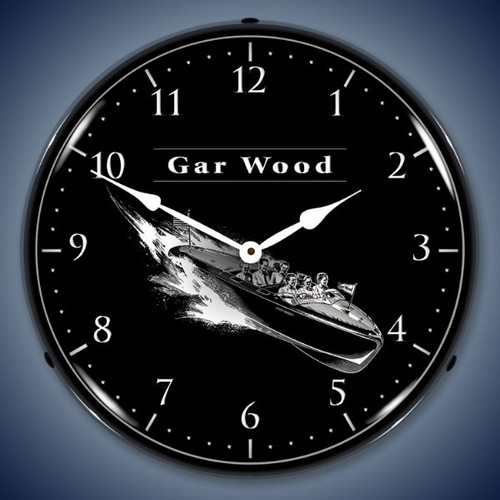 Vintage-Retro  Gar Wood Lighted Wall Clock