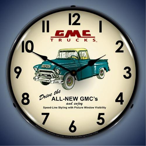 Vintage-Retro  GMC Trucks 1956 Lighted Wall Clock