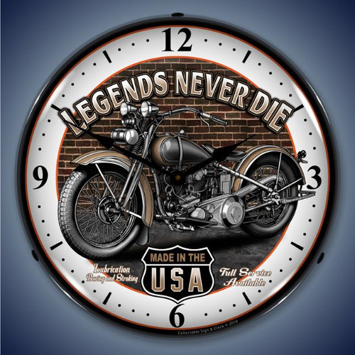 Vintage-Retro  Legends Lighted Wall Clock