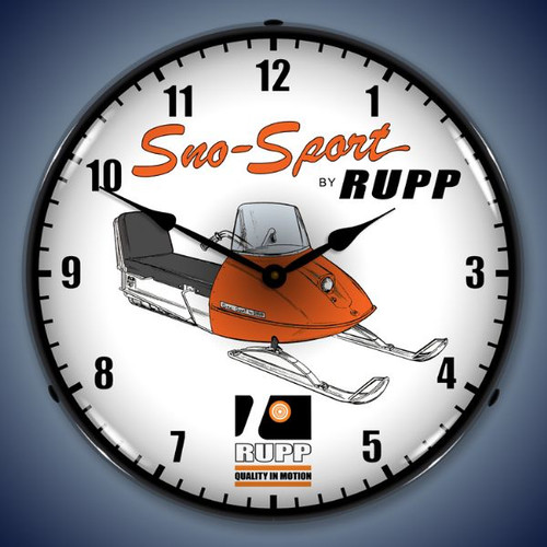Vintage-Retro  Rupp Snowmobile Lighted Wall Clock