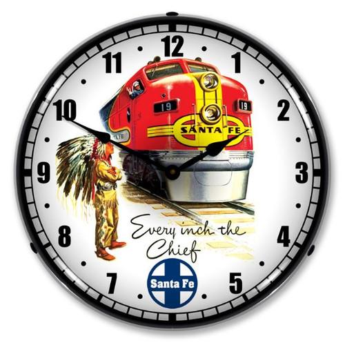 Sante Fe Chief Lighted Wall Clock