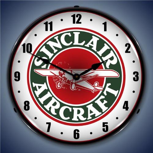 Vintage-Retro  Sinclair Aircraft Lighted Wall Clock
