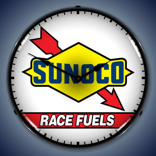 Vintage-Retro  Sunoco Race Fuel Lighted Wall Clock