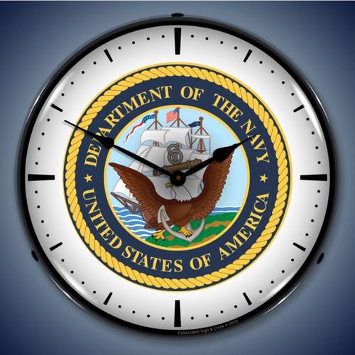 Vintage-Retro  US Navy Lighted Wall Clock