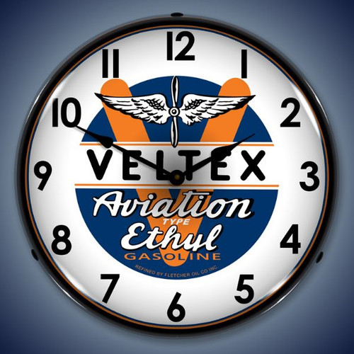 Vintage-Retro  Veltex Avaition Lighted Wall Clock