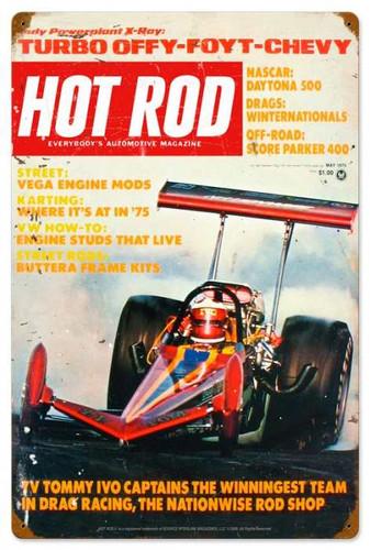 Vintage-Retro Hot Rod Magazine 27515 Metal-Tin Sign
