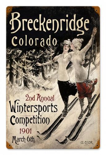 Vintage-Retro Ski Breckenridge Metal-Tin Sign