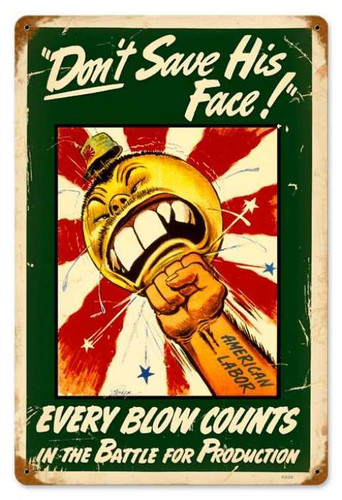 Vintage-Retro Every Blow Counts Metal-Tin Sign