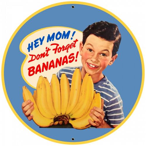 Vintage-Retro Bananas Tin-Metal Sign LARGE