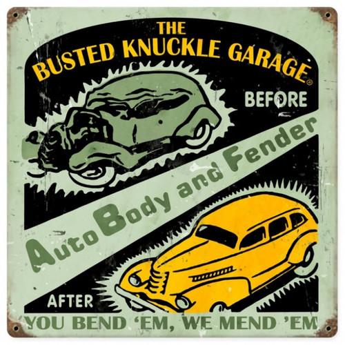 Vintage  Auto Body Shop Metal Sign