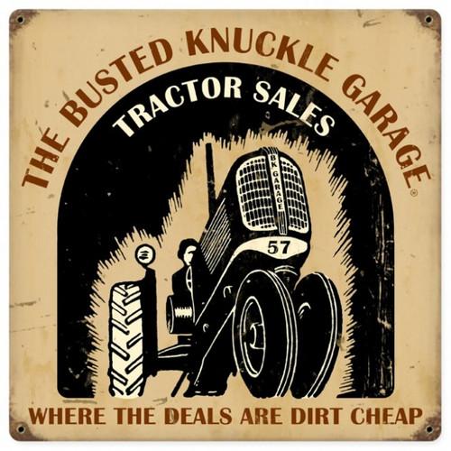 Vintage  Tractor Shop Metal Sign