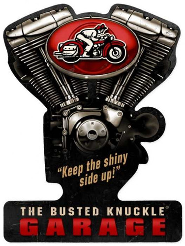 Vintage  Busted Knuckle Garage Metal Sign 10