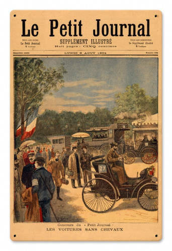 Vintage La Petite Journal 12 x 18 inches Tin Sign