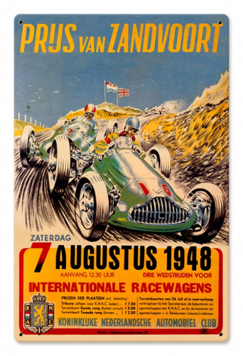Vintage Zanvoort Grand Prix 12 x 18 inches Tin Sign