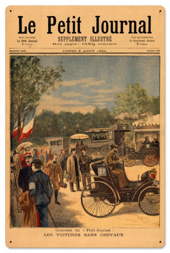 Vintage La Petite Journal 24 x 16 inches Tin Sign