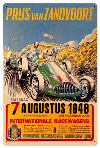 Vintage Zanvoort Grand Prix 24 x 16 inches Tin Sign
