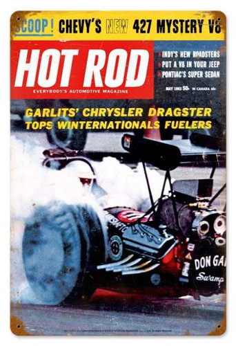 Vintage-Retro Garlits (May. 1963) Metal-Tin Sign