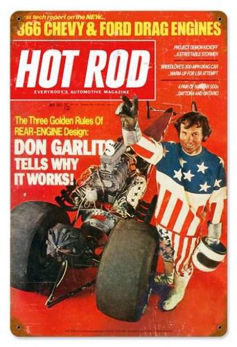 Vintage-Retro Garlits (May. 1971) Metal-Tin Sign