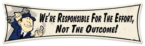 Vintage-Retro Responsible Metal-Tin Sign