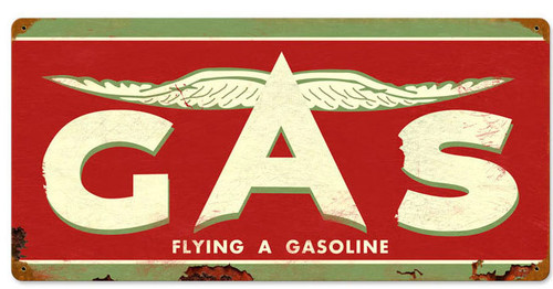 Retro Flying A Original Tin Sign 24 x 14 Inches