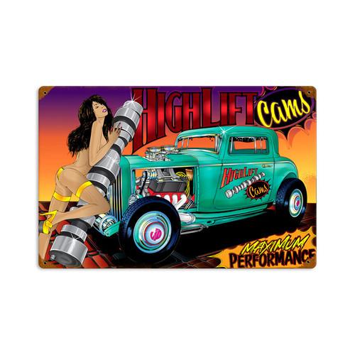 Retro Rat Rod High Lift Tin Sign 18 x 12 Inches