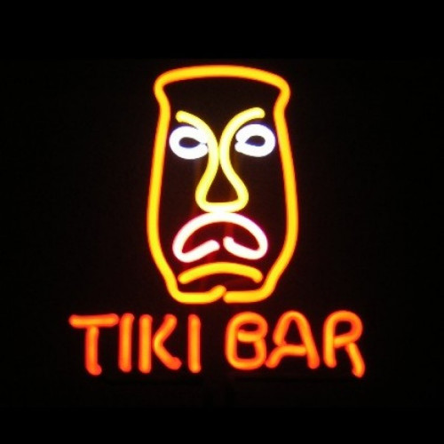 Tiki Bar Mask Neon Sculpture