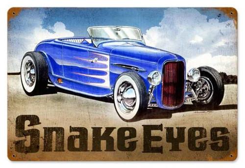 Vintage-Retro Snake Eyes Hot Rod Metal-Tin Sign