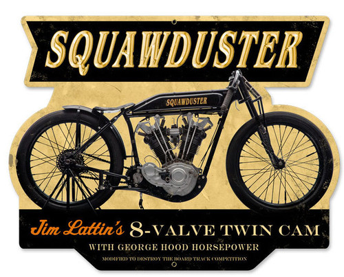 Retro Squawduster Metal Sign 17 x 13 Inches