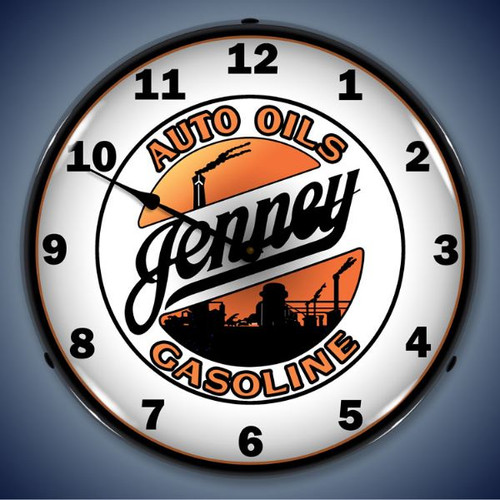 Retro Jenny Gasoline Lighted Wall Clock